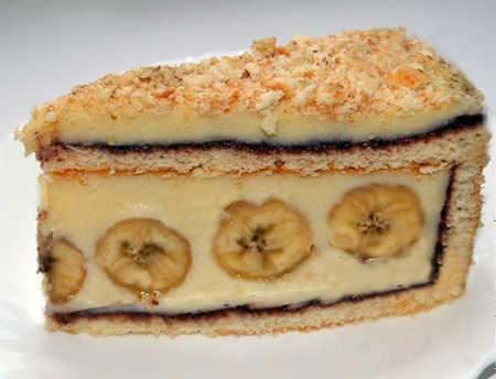 Торт с банановой начинкой
